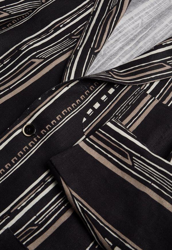 Black and Tan Linen Stripe Jacket, image 3