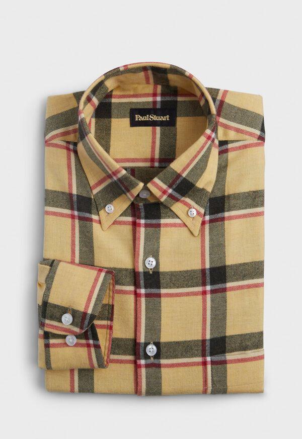 Cotton Flannel Big Plaid Sport Shirt