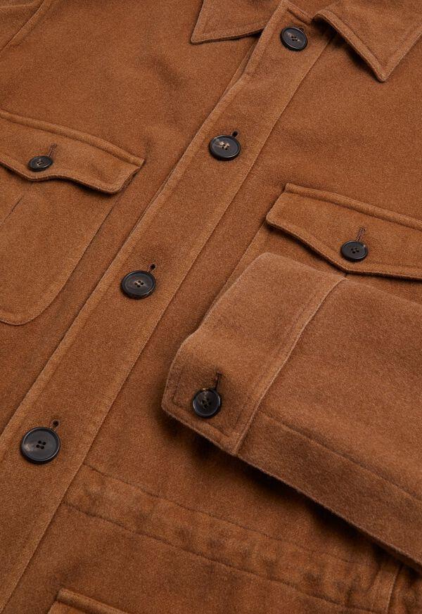 Garment Washed Cashmere Safari Jacket, image 2