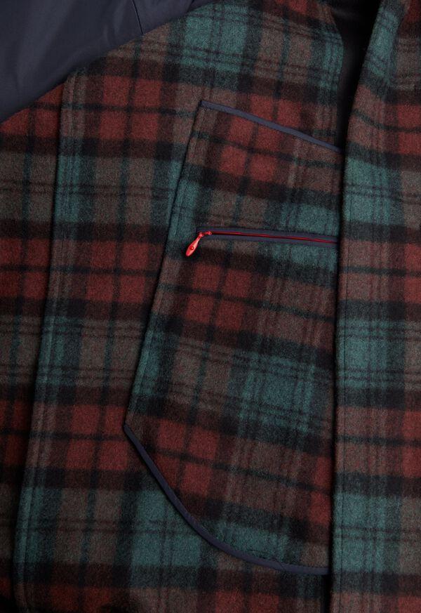 Tartan Plaid Wool Hooded Coat, image 4