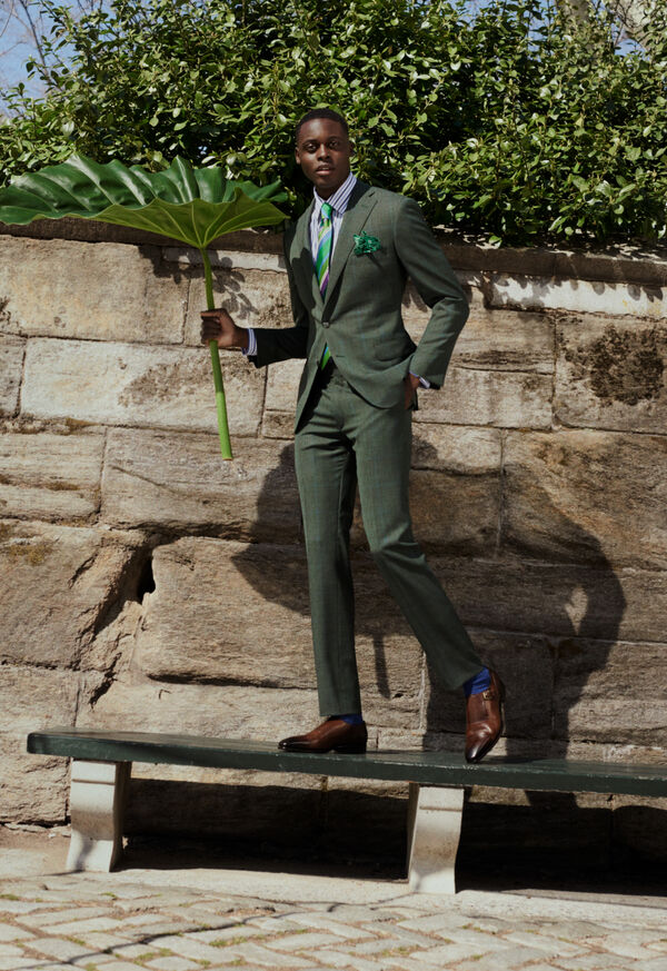 Shop the Look: Green Wool Suit, image 1