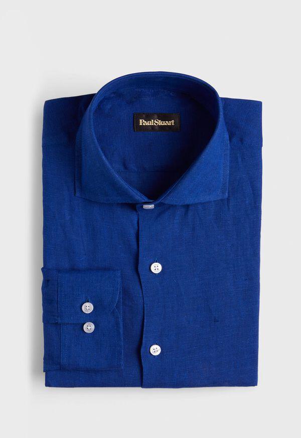 Solid Linen Sport Shirt, image 1