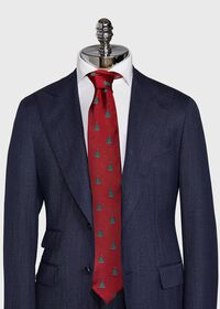 Red Christmas Tree Holiday Tie, thumbnail 2