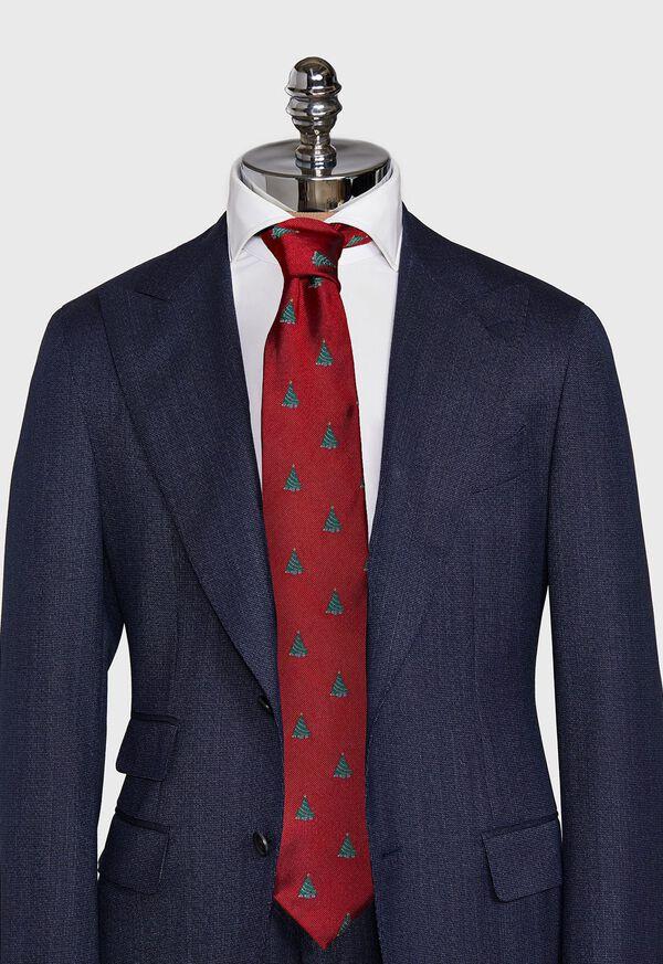 Red Christmas Tree Holiday Tie, image 2