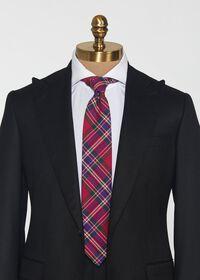 Purple Tartan Wool Tie, thumbnail 2