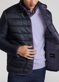 Nylon Quilted Coat With Contrast Piping, thumbnail 5