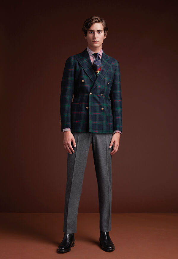 Plaid Double Breasted Wool Jacket, image 2
