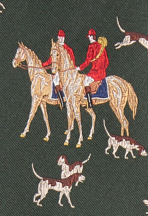 Hunt Motif Silk Tie, image 3