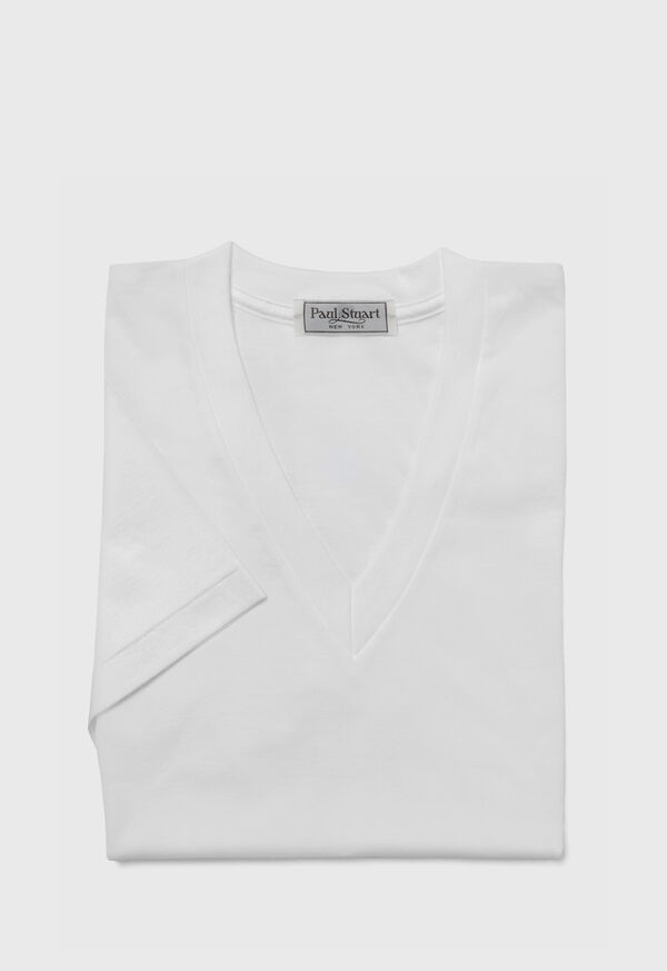 Mercerized Cotton V-Neck, image 1