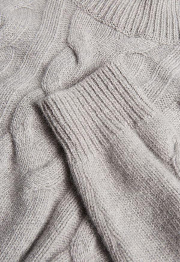 Wool Blend Cable Knit Turtleneck, image 2