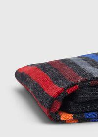 Wool Blend Multicolor Stripe Sock, thumbnail 2