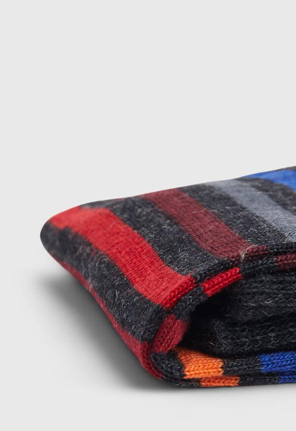 Wool Blend Multicolor Stripe Sock, image 2