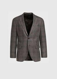 Grey and Brown Plaid Sport Jacket, thumbnail 1
