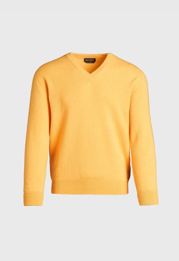 Scottish Cashmere V-Neck Sweater, image 9