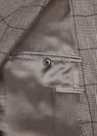 Wool Plaid Classic Shoulder Suit, thumbnail 5
