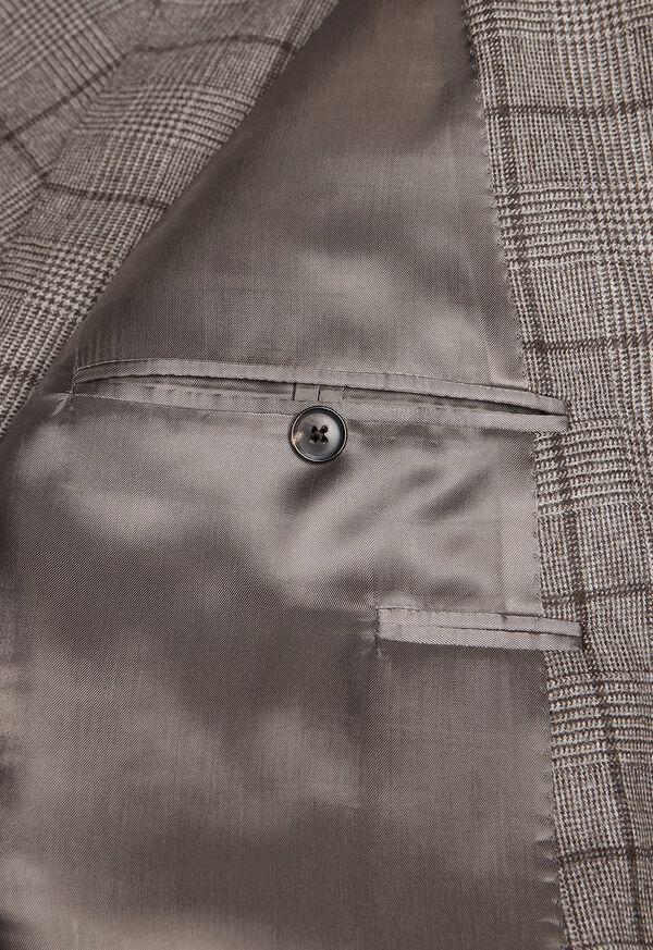 Wool Plaid Classic Shoulder Suit, image 5
