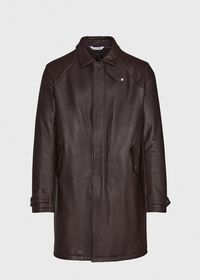 Leather Zip Up Coat, thumbnail 1
