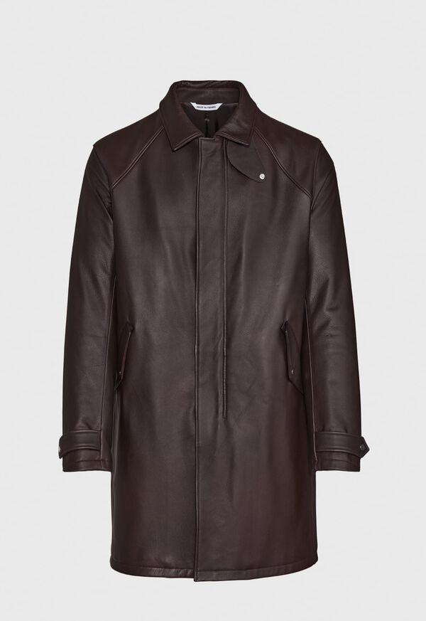Leather Zip Up Coat, image 1