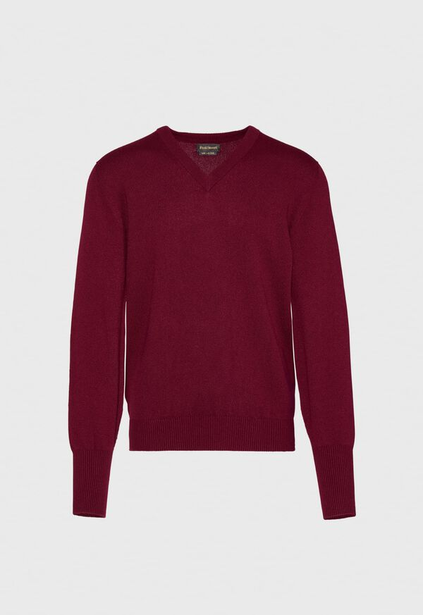 Scottish Cashmere V-Neck Sweater, image 1