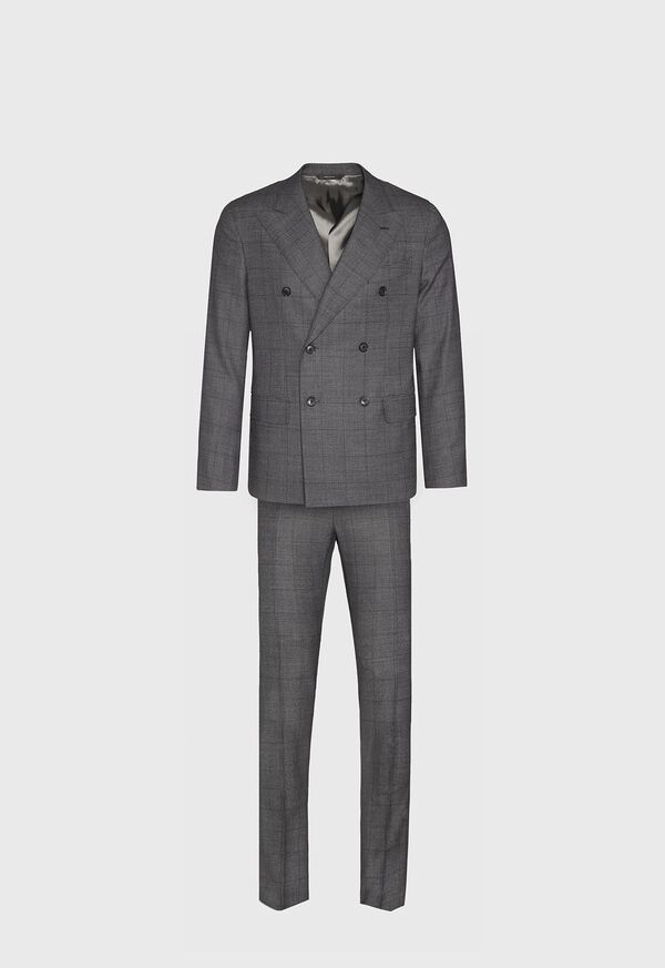 Grey Nailhead Double Breasted Suit, image 1