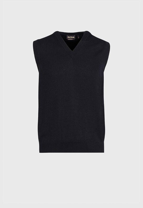 Classic Cashmere Slipover Vest, image 1