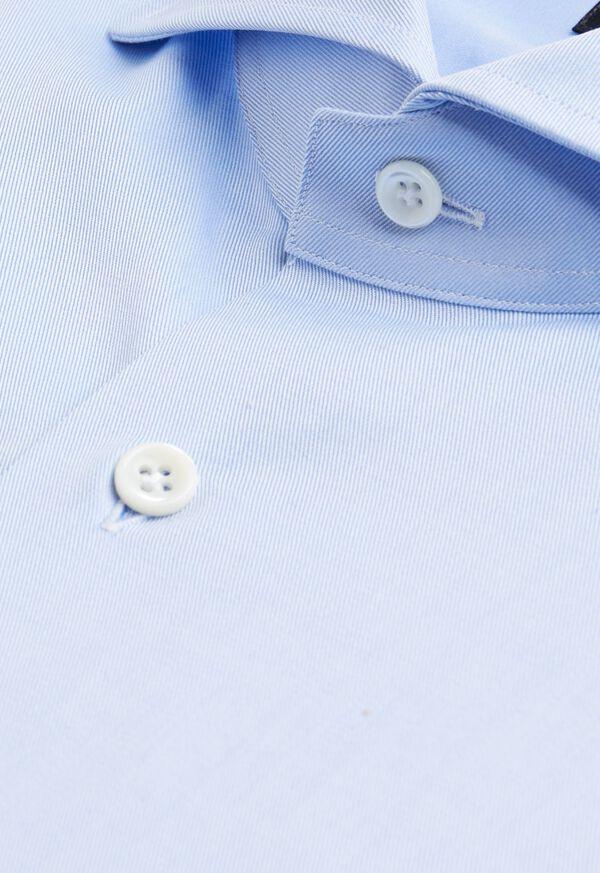 Solid Blue Dress Shirt, image 2