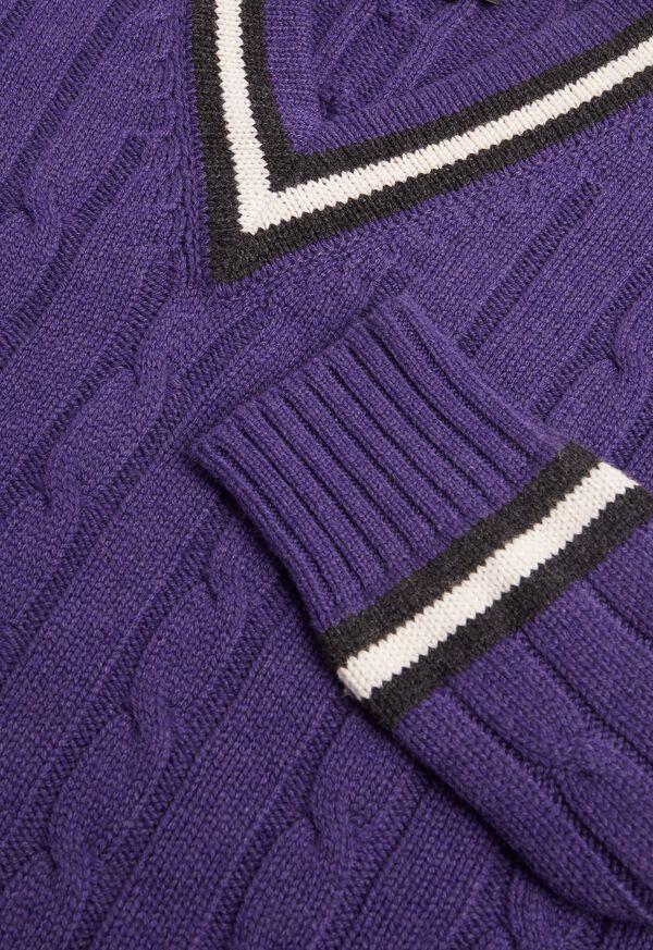 Scottish Cashmere Tennis Sweater, image 2
