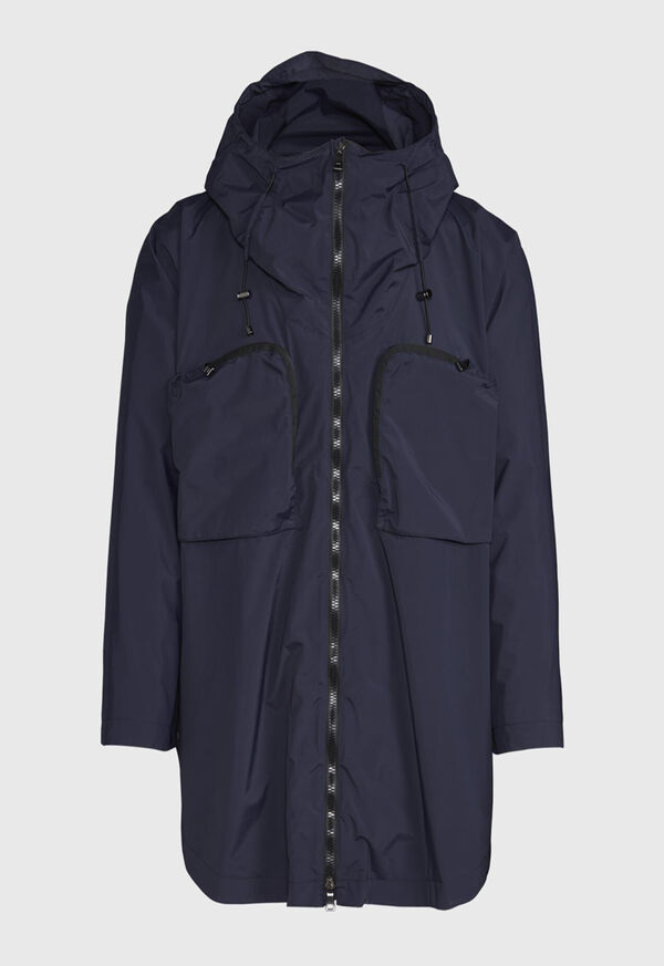 Navy Solid Cape Jacket, image 1