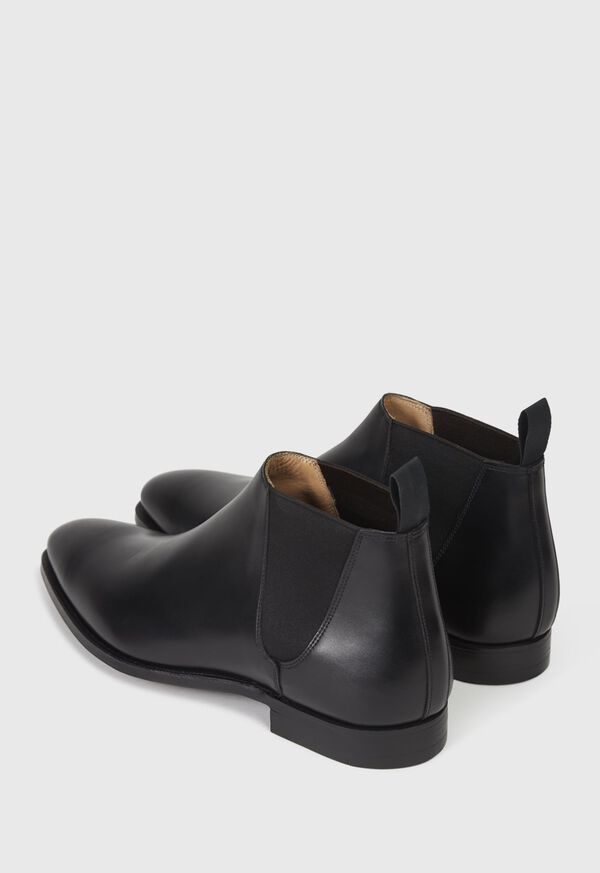 Black leather Half Chelsea Boot, image 5