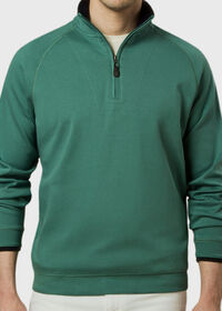Pima Cotton 1/2 Zip Sweater, thumbnail 3
