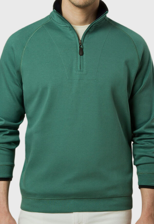 Pima Cotton 1/2 Zip Sweater, image 3