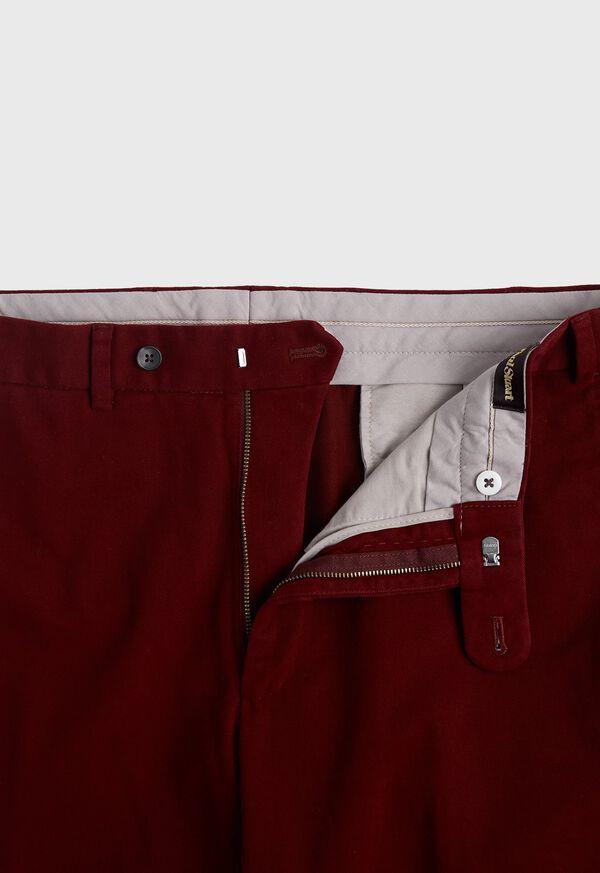 Crimson heavy weight Brushed Cotton Pant, image 2