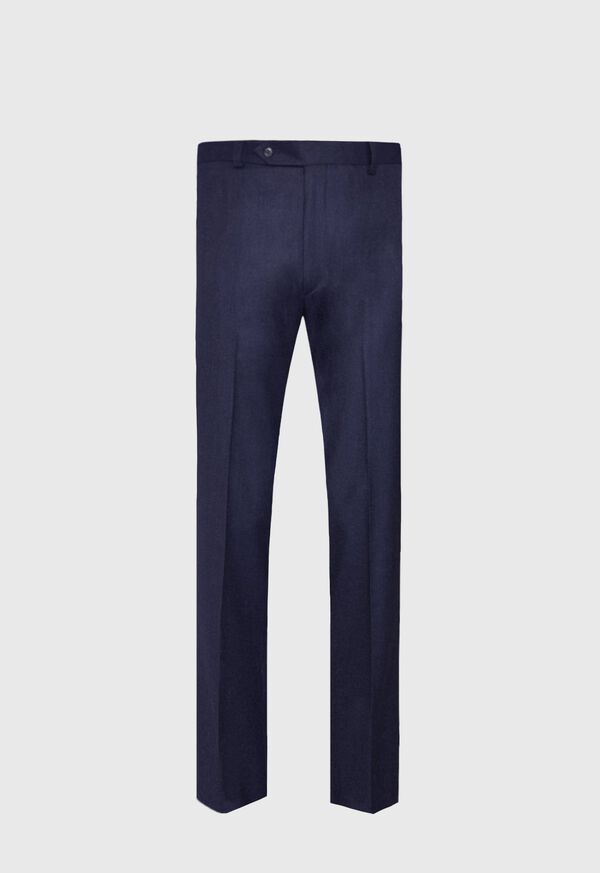 Super 120s Navy Flannel Trouser, image 1