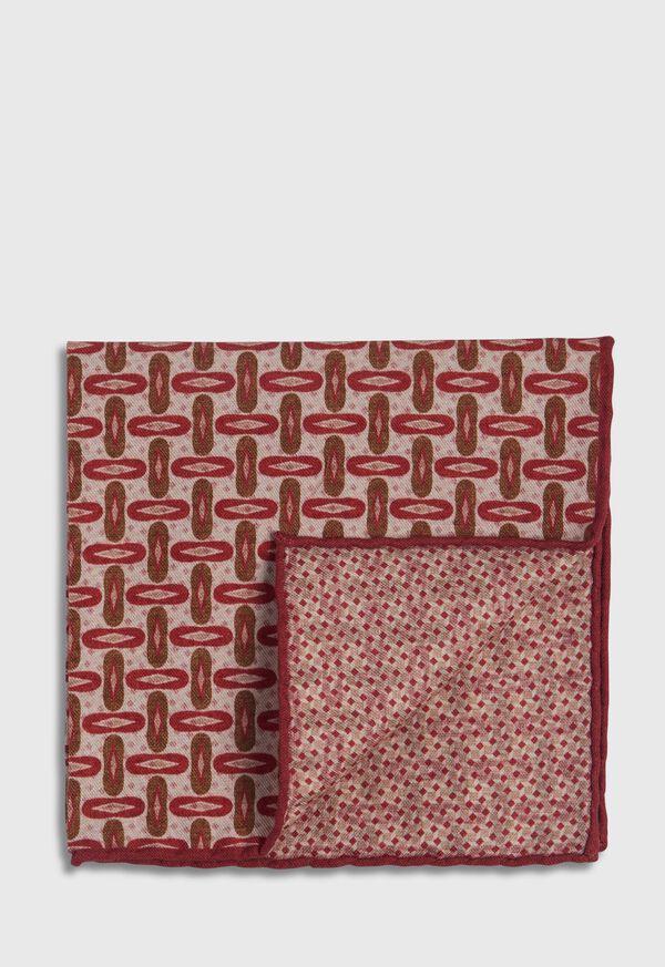 Vintage Deco Print Pocket Square, image 1