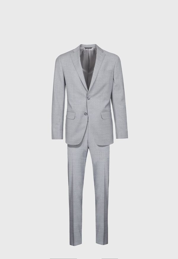 Light Grey Mini Houndstooth Wool Blend suit, image 1