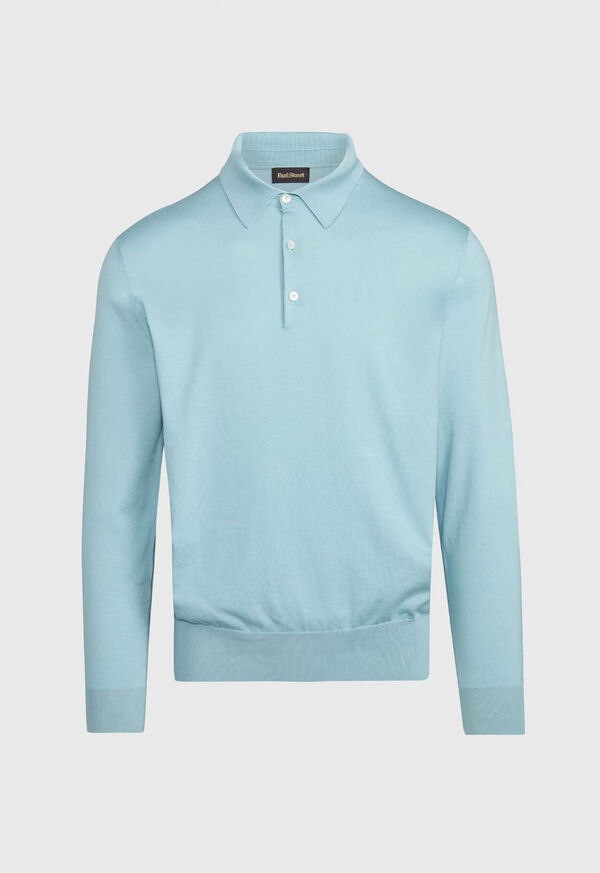 Long Sleeve Cotton Polo, image 1