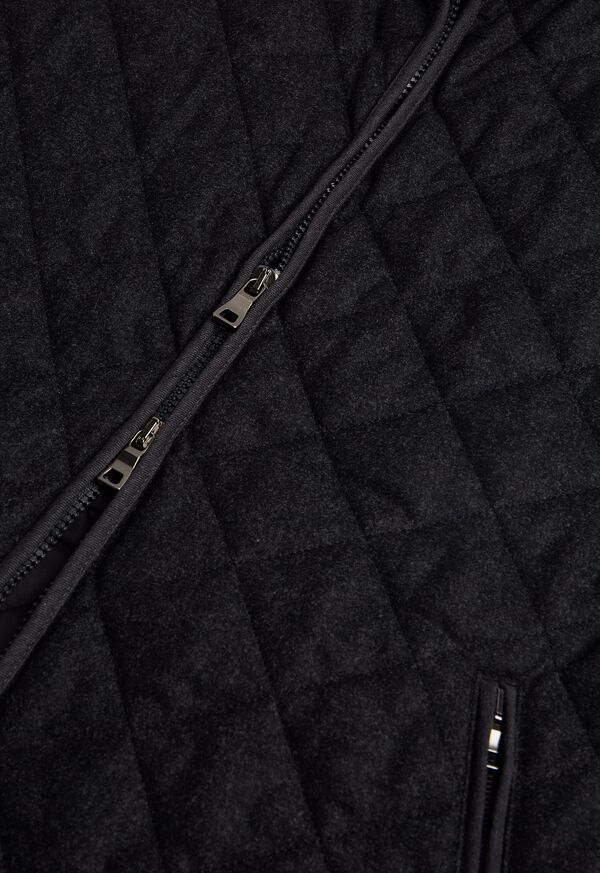 Merino Wool Flannel Quilted Vest, image 4