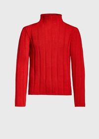Ribbed Mock Neck Sweater, thumbnail 1
