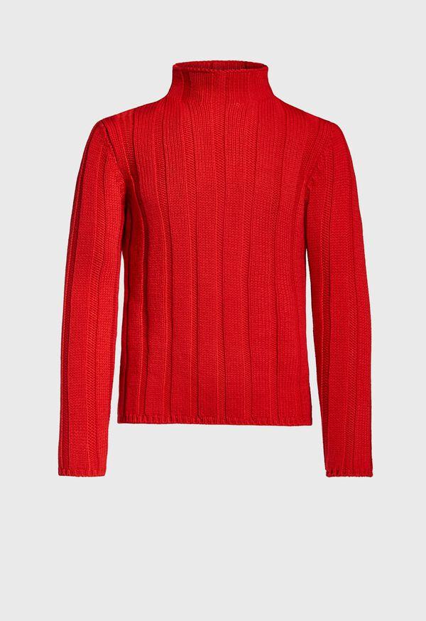 Ribbed Mock Neck Sweater, image 1