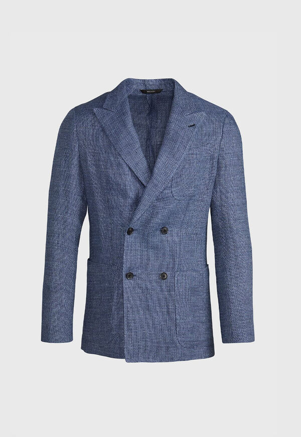 Textured Double Breasted Jacket, image 1