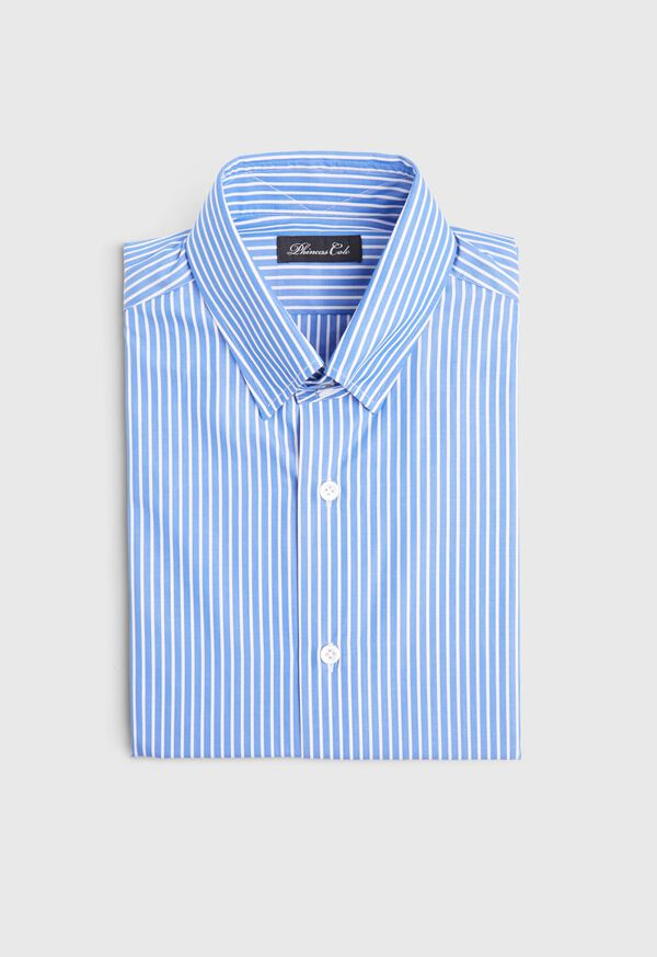Blue and White Stripe Dress Shirt