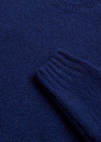 Wool Blend Boucle Crewneck Sweater, thumbnail 2
