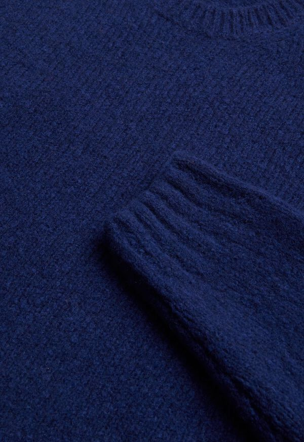 Wool Blend Boucle Crewneck Sweater, image 2