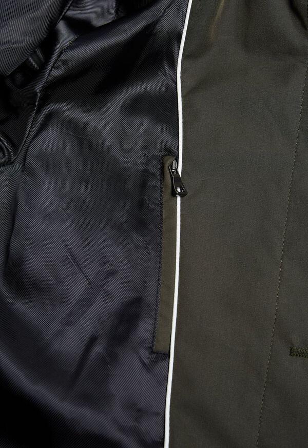 Solid Olive Raincoat, image 3