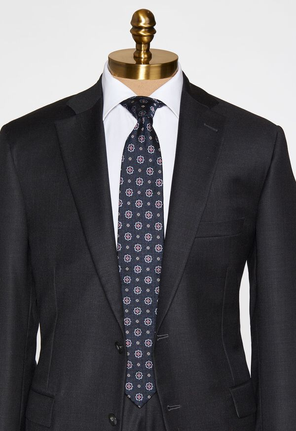 Large Medallion Jacquard Tie, image 2