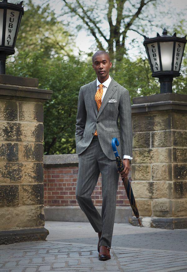 FW21 Paul Stuart Chalk Stripe Suit Look, image 1