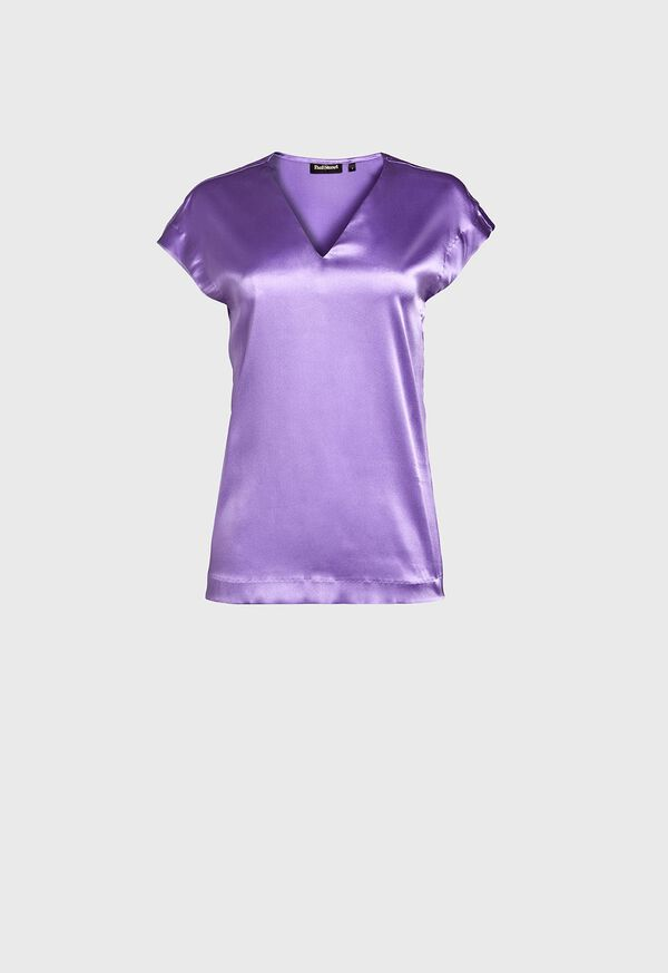 Silk Cap Sleeve Top, image 1