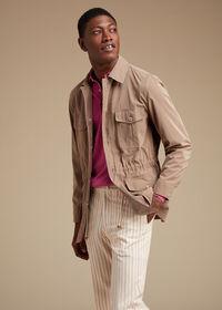 Pink & Mink Stripe Cotton Pant, thumbnail 3