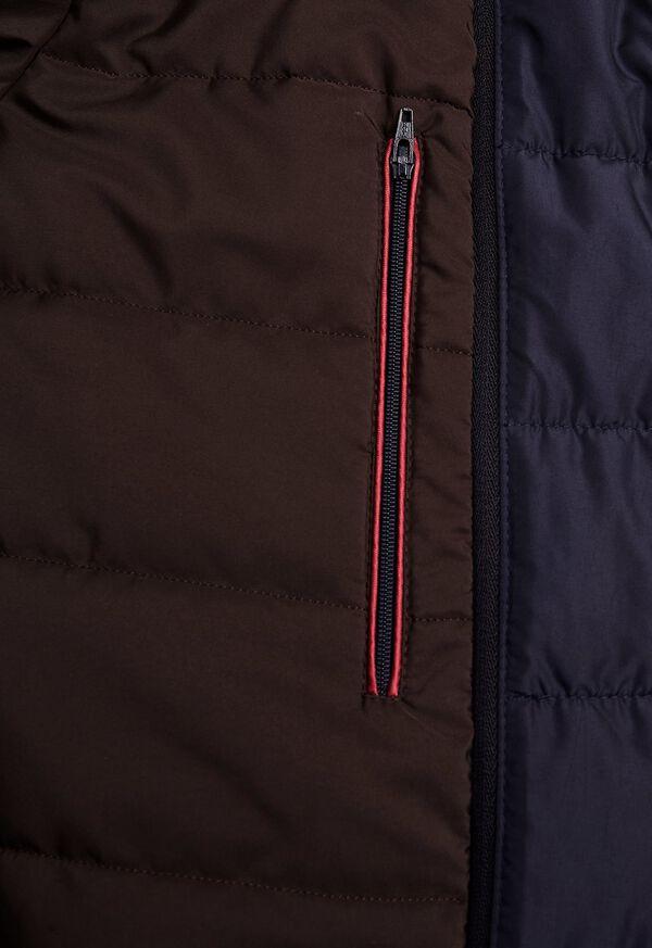 Microfiber Car Coat with Faux Vest, image 6