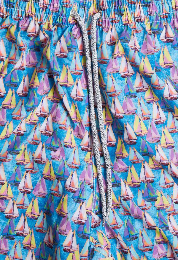 Sailboat Print Swim Trunk, image 2